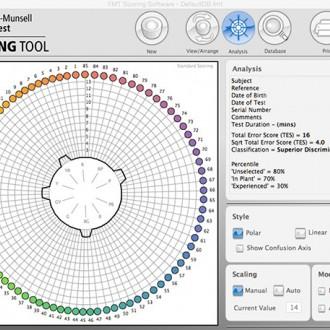 Farnsworth-Munsell 100 Hue Test Scoring Software